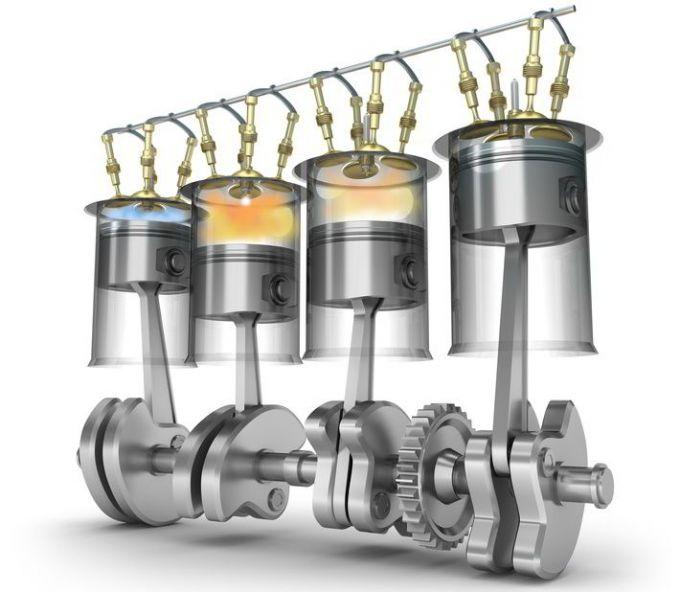 Схема цилиндров двигателя